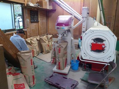 籾摺り機とパックメイト